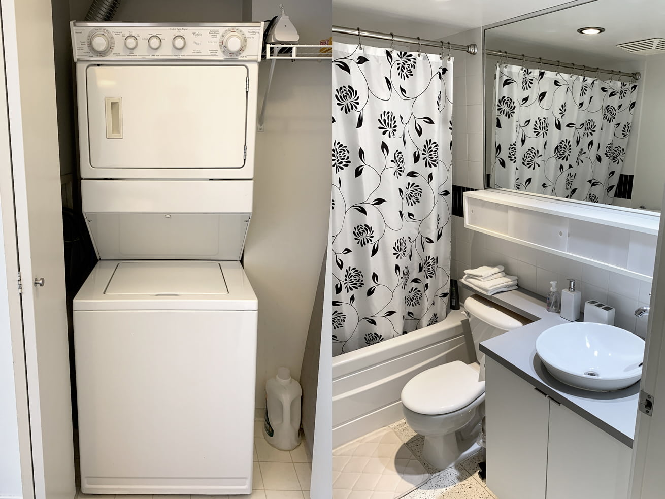 Vancouver downtown apartments max one bedroom den washer dryer bathroom