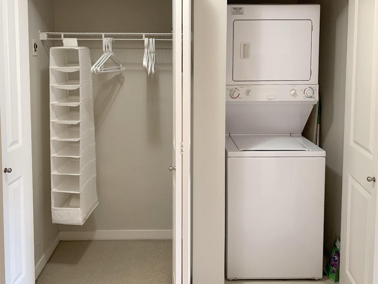 Vancouver condo rentals oscar studio closet washer dryer