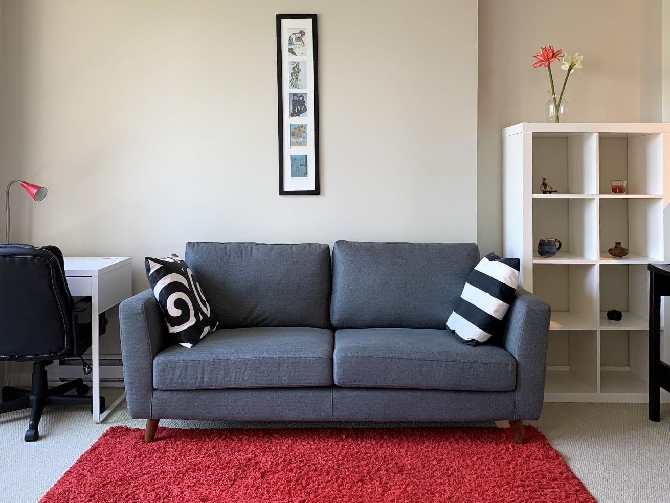 Vancouver condo rentals oscar studio desk sofa