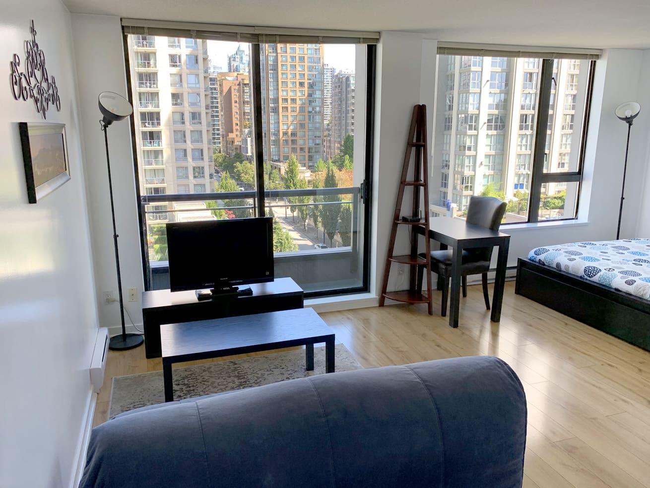 Vancouver apartments for rent oscar studio balcony desk