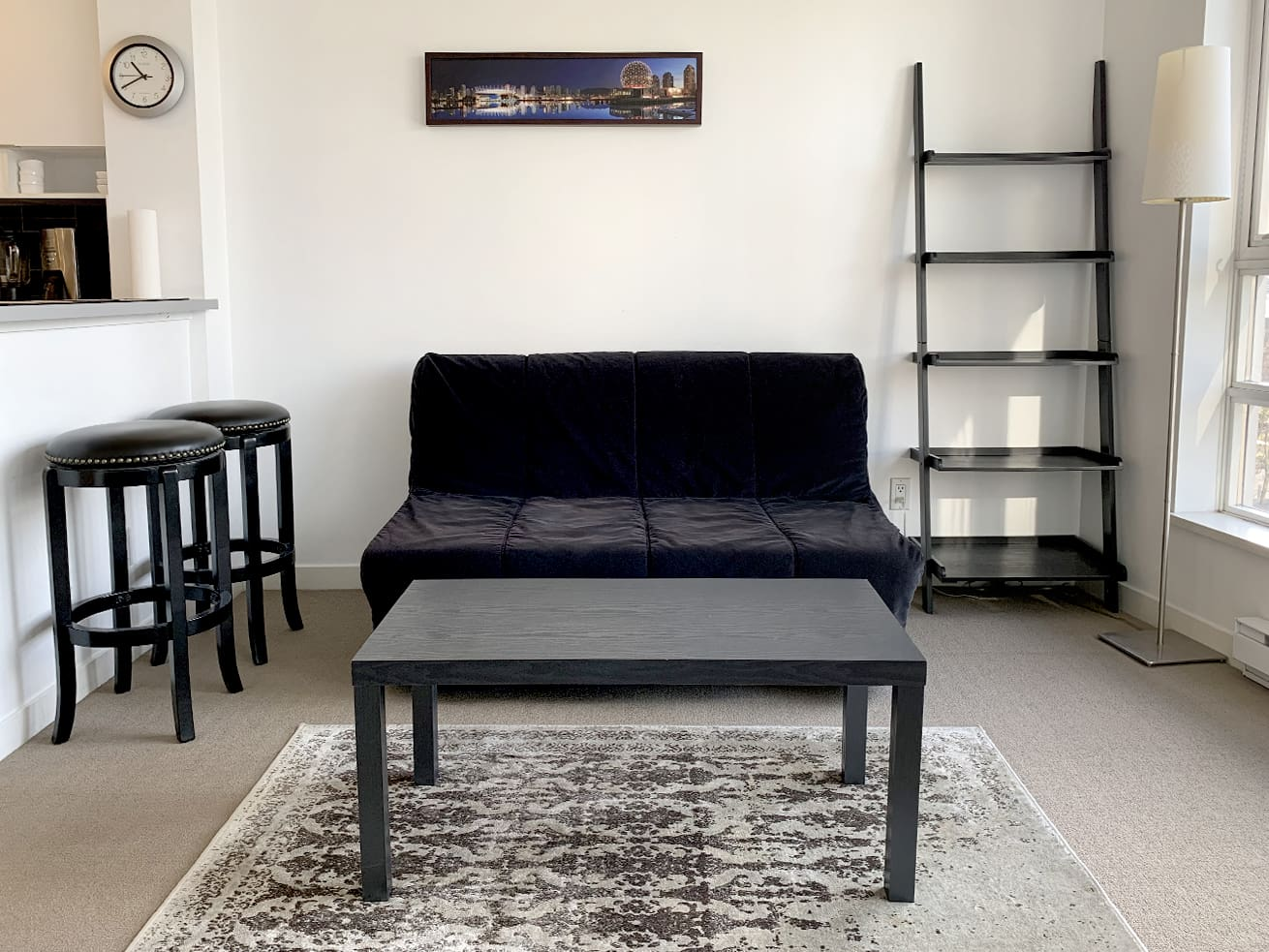 Yaletown apartment rentals max studio den living room