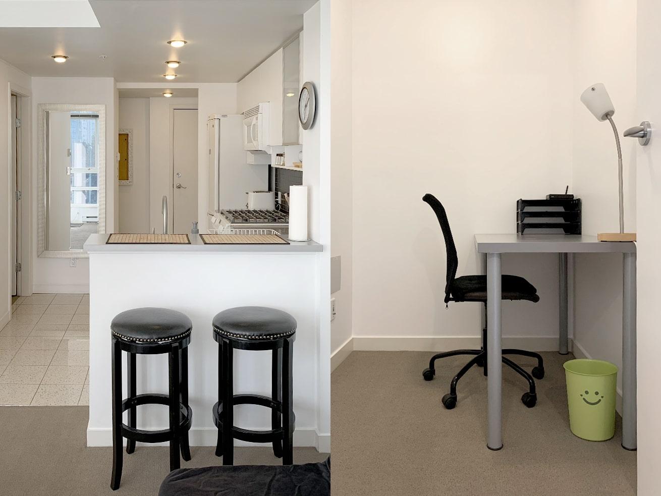 Yaletown apartment rentals max studio den bar desk