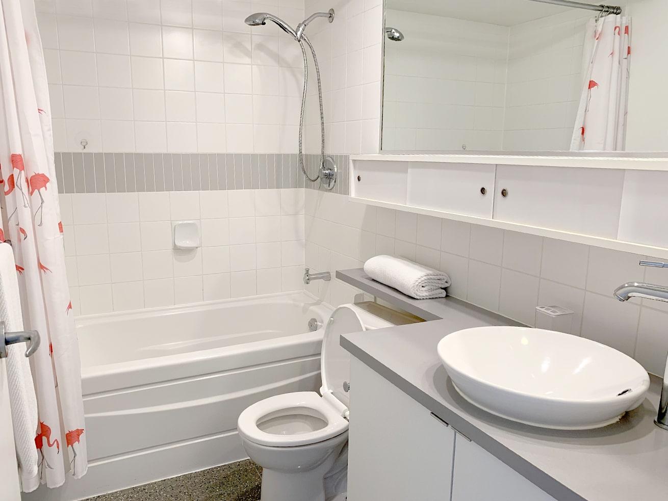 Vancouver apartment rentals max studio den bathroom