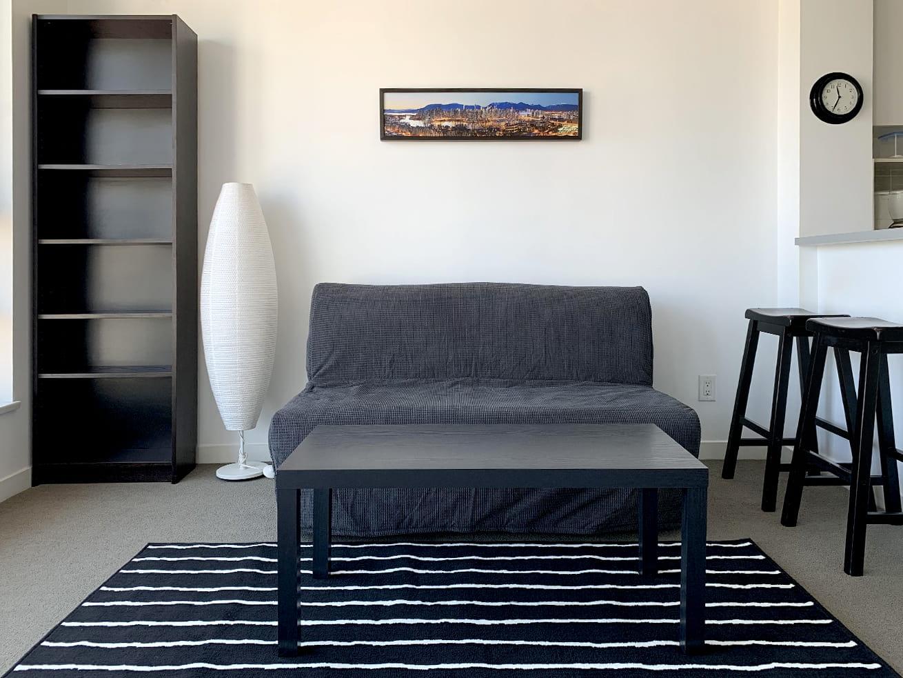 Vancouver apartment rentals max studio den living room